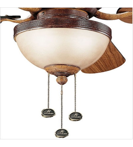 Kichler Lighting Novella 3 Light Fan Light Kit in Antique Leather 380006ALR photo