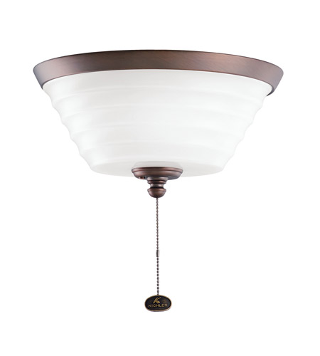 Kichler Lighting Universal Light Fixture 1 Light Fan Light Kit in Oil Brushed Bronze 380101OBB