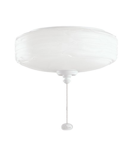 Kichler Lighting Universal Light Fixture 1 Light Fan Light Kit in White 380102WH