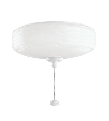 Kichler Lighting Universal Light Fixture 1 Light Fan Light Kit in White 380102WH