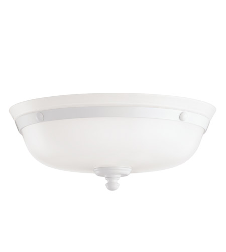 Kichler Lighting Universal Light Fixture Fan Light Kit in White 380106WH