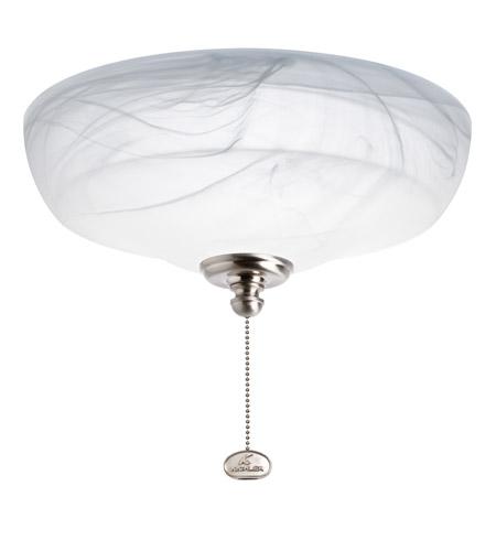 Kichler Lighting Universal Light Fixture 4 Light Fan Light Kit in Brushed Stainless Steel 380109BSS
