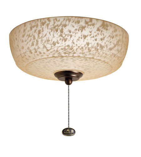Kichler Lighting Universal Light Fixture 4 Light Fan Light Kit in Oil Brushed Bronze 380110OBB photo