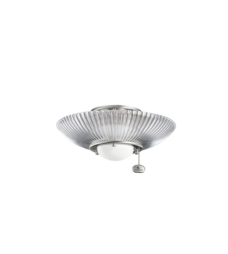 Kichler Lighting Single Lt Decor Ribbed Fixture Fan Light Kit in Brushed Stainless Steel 380112BSS