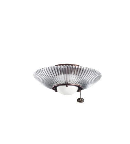Kichler Lighting Single Lt Decor Ribbed Fixture Fan Light Kit in Oil Brushed Bronze 380112OBB