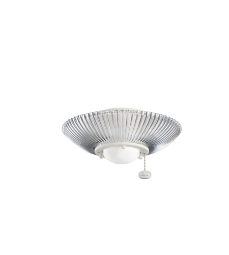 Kichler Lighting Single Lt Decor Ribbed Fixture Fan Light Kit in Satin Natural White 380112SNW