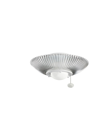 Kichler Lighting Single Lt Decor Ribbed Fixture Fan Light Kit in White 380112WH