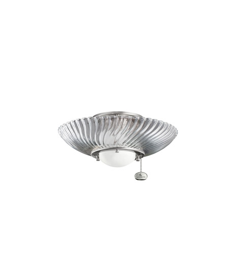 Kichler Lighting Single Lt Decor Swirl Fixture Fan Light Kit in Brushed Stainless Steel 380113BSS