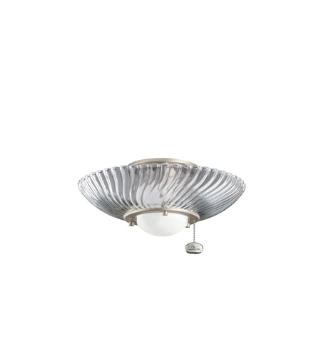 Kichler Lighting Single Lt Decor Swirl Fixture Fan Light Kit in Brushed Nickel 380113NI