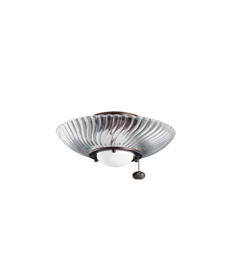 Kichler Lighting Single Lt Decor Swirl Fixture Fan Light Kit in Oil Brushed Bronze 380113OBB