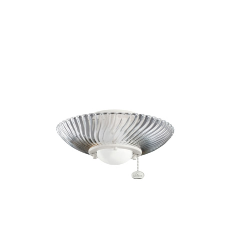 Kichler Lighting Single Lt Decor Swirl Fixture Fan Light Kit in Satin Natural White 380113SNW