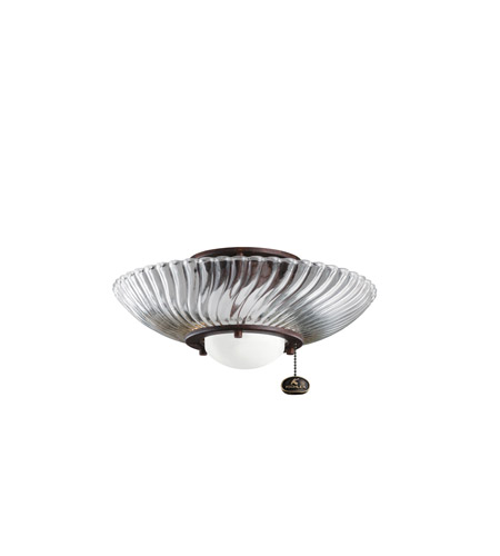 Kichler Lighting Single Lt Decor Swirl Fixture Fan Light Kit in Tannery Bronze 380113TZ