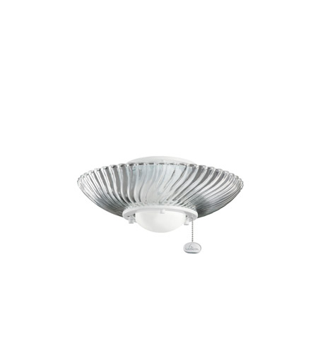 Kichler Lighting SGL LIGHT DECOR SWIRL FIXTURE Fan Light Kit in White 380113WH
