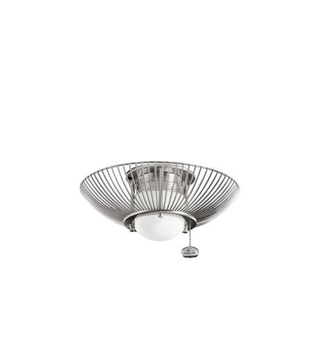 Kichler Lighting Single Lt Decor Swirl Fixture Fan Light Kit in Brushed Stainless Steel 380114BSS