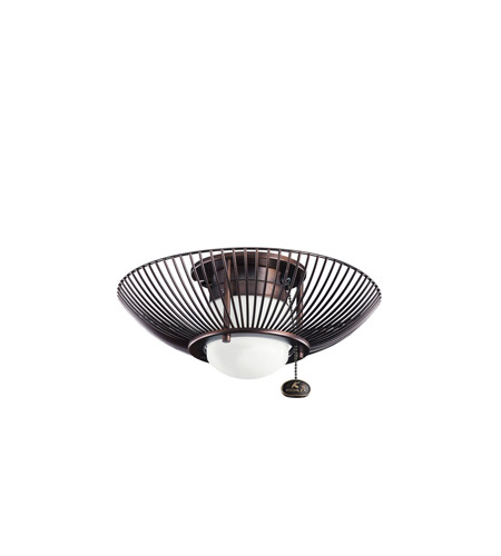 Kichler Lighting Single Lt Decor Swirl Fixture Fan Light Kit in Oil Brushed Bronze 380114OBB