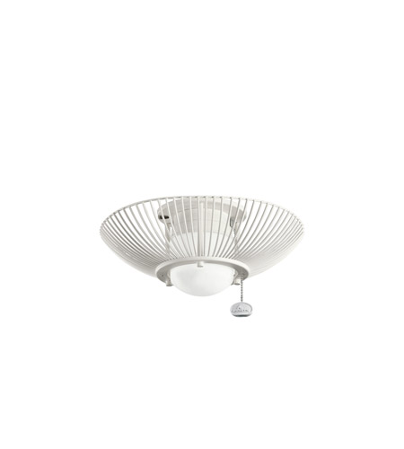 Kichler Lighting Single Lt Decor Swirl Fixture Fan Light Kit in Satin Natural White 380114SNW