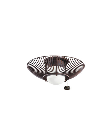 Kichler Lighting Single Lt Decor Swirl Fixture Fan Light Kit in Tannery Bronze 380114TZ