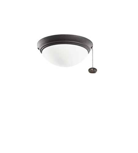 Kichler Lighting Basic Low Profile Fixture 30-3 Fan Light Kit in Distressed Black 380120DBK photo
