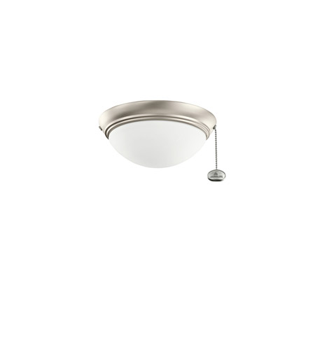 Kichler Lighting Basic Low Profile Fixture 30-3 Fan Light Kit in Brushed Nickel 380120NI