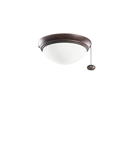 Kichler Lighting Basic Low Profile Fixture 30-3 Fan Light Kit in Tannery Bronze 380120TZ