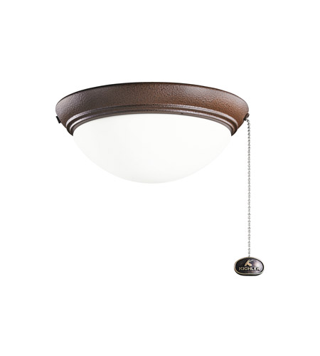 Kichler Basic Low Profile 2 Light Fan Light Kit in Tannery Bronze Powder Coat 380120TZP photo