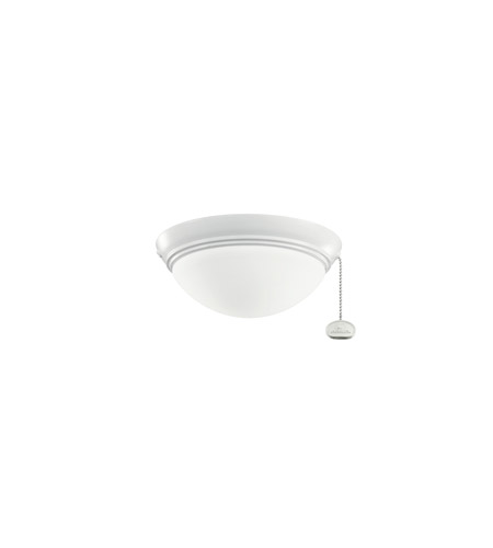 Kichler Lighting Basic Low Profile Fixture 30-3 Fan Light Kit in White 380120WH