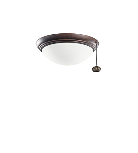 Kichler Lighting Basic Low Profile Fixture 42-4 Fan Light Kit in Tannery Bronze 380121TZ