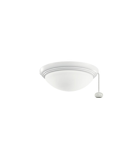 Kichler Lighting Basic Low Profile Fixture 42-4 Fan Light Kit in White 380121WH