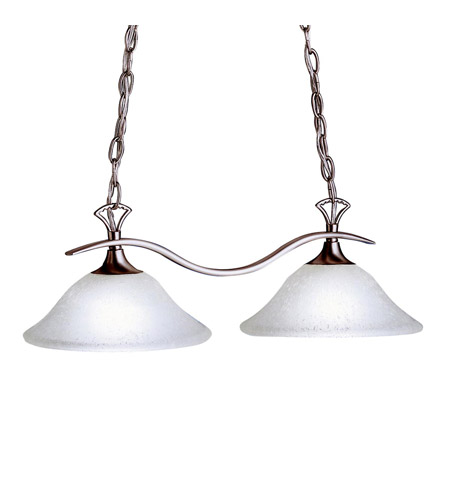 Kichler Lighting Dover 2 Light Island Light in Brushed Nickel 3802NI