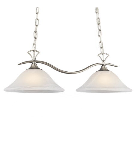 Kichler Lighting Telford 2 Light Island Light in Brushed Nickel 3802NIA photo