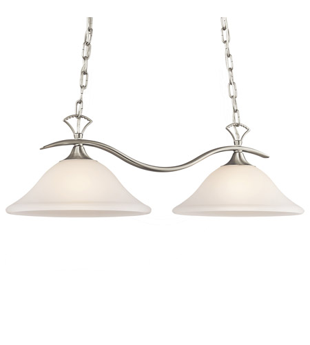 Kichler Lighting Wedgeport 2 Light Island Light in Brushed Nickel 3802NIS