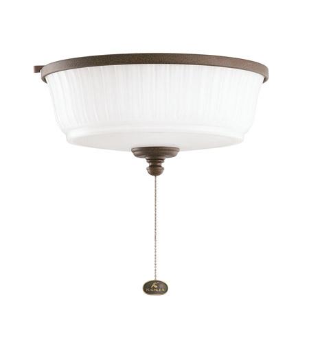 Kichler Lighting Outdoor Wet Fixture 1 Light Fan Light Kit in Tannery Bronze Powder Coat 380900TZP