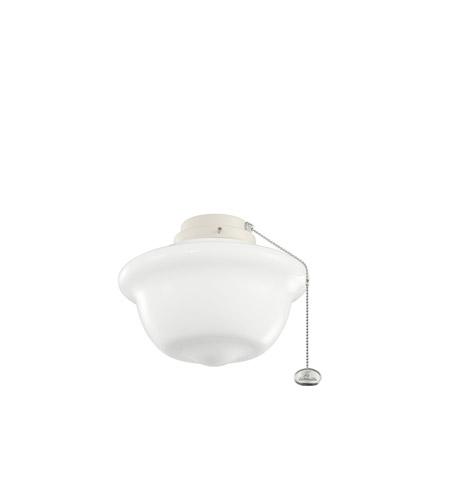 Kichler Lighting 10 Inch School House Outdoor Fan Light Kit in Adobe Cream 380904ADC