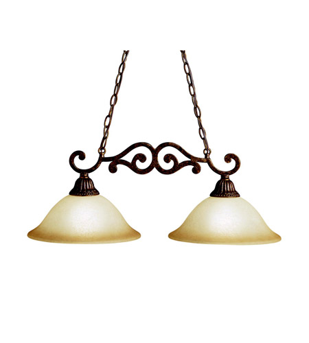 Kichler Lighting Larissa 2 Light Island Light in Tannery Bronze w/ Gold Accent 3813TZG