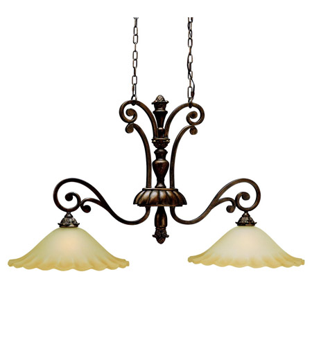Kichler Lighting Cheswick 2 Light Island Light in Parisian Bronze 3818PRZ photo