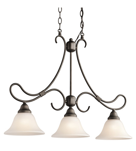 kichler lighting stafford 3 light island light in olde bronze 3856oz