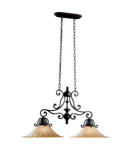 Kichler Lighting Cottage Grove 2 Light Island Light in Carre Bronze 3857CZ