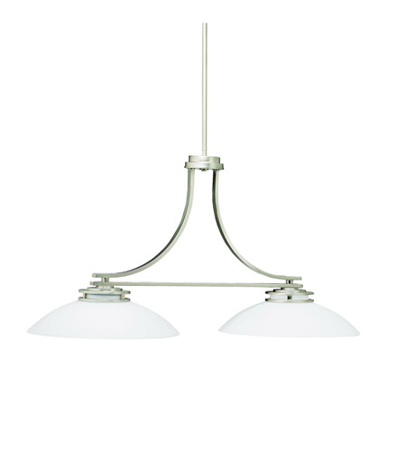 Kichler Lighting Hendrik 2 Light Island Light in Brushed Nickel 3875NI