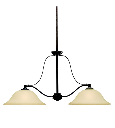 Kichler Lighting Langford 2 Light Island Light in Canyon Slate 3882CST photo