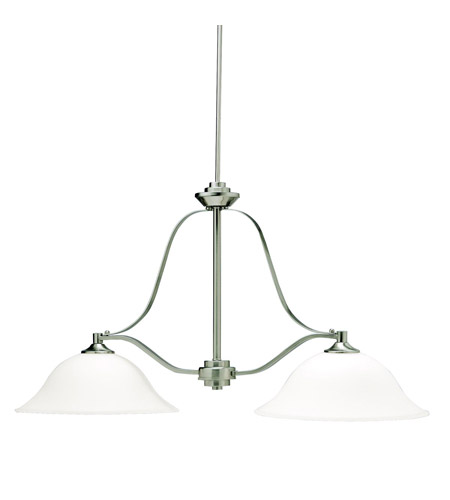 Kichler Lighting Langford 2 Light Island Light in Brushed Nickel 3882NI