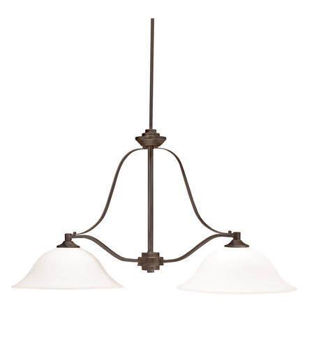Kichler Lighting Langford Light Island Chandelier In Olde Bronze - 2 light island chandelier