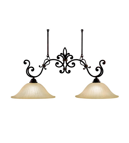 Kichler Lighting Wilton 2 Light Island Light in Carre Bronze 3894CZ photo