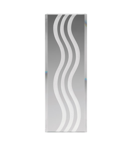 Kichler Lighting Glass Panel Curved Lines Stocked Glass in Frosted 4079