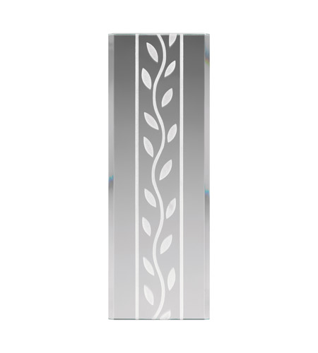 Kichler Lighting Glass Panel Leaf Pattern Stocked Glass in Frosted 4084