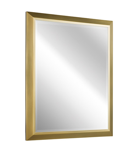Kichler 41011NBR Signature 30 X 24 inch Natural Brass Wall Mirror, Rectangular photo