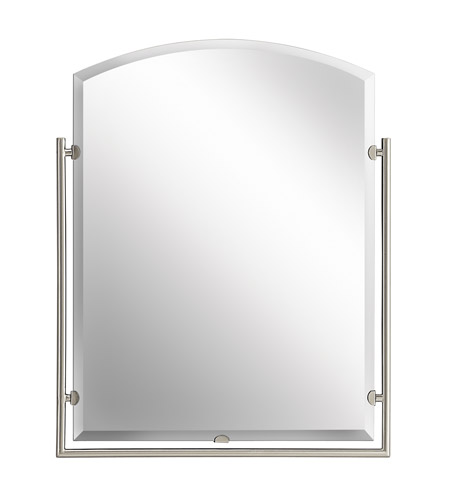 Kichler 41056NI Structures 30 X 24 inch Brushed Nickel Mirror Home Decor, Rectangular photo