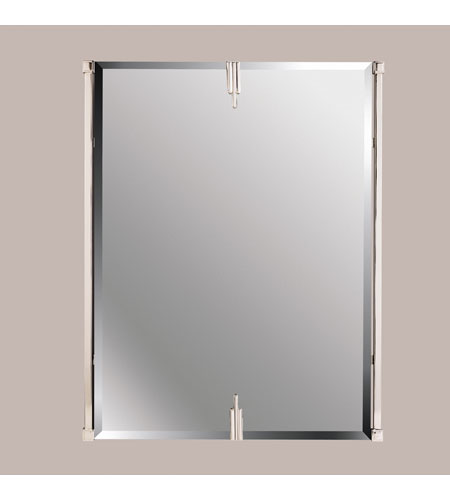 Kichler 41058PN Signature 31 X 24 inch Polished Nickel Wall Mirror, Rectangular photo