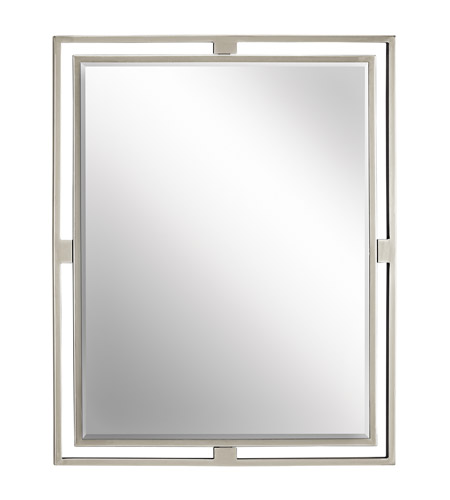 Kichler 41071NI Hendrik 30 X 24 inch Brushed Nickel Wall Mirror, Rectangular  photo