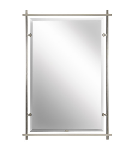 Kichler 41096ni Eileen 39 X 27 Inch Brushed Nickel Wall Mirror