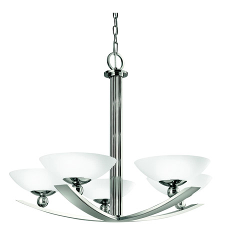 Kichler Lighting Palla 5 Light Chandelier in Polished Nickel 42002PN